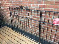 Set Of Wrought Iron Driveway Gates 9.5 - 10ft