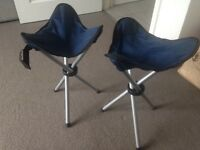 2 x fishing / camping stools £5