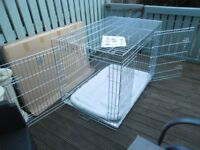 """Ellie Bo XXL Deluxe 48"""" Dog Crate Cage UNUSED with sheepskin mat"""