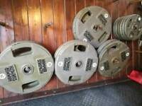 £1.5 per kg Hammer Strength Olympic weights