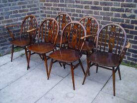 FREE DELIVERY Ercol Fleur de Lys Dining Chairs Retro Vintage Furniture