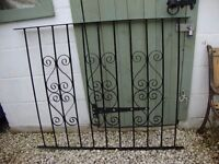 """Wrought Iron Fence Section In Good Condition.. 45"""" x 36"""" high."""