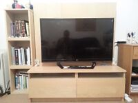 TV stand with book shelf