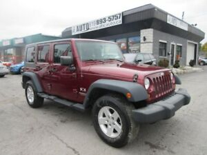 2008 Jeep Wrangler LOW KMS Unlimited 4x4 Standard 4 doors Hard T
