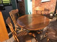 Shabby chic project extending dining table and 4 large chairs so comfy