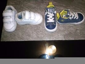 Boys size 4c high tops and trainers