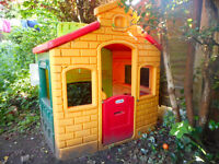 Little Tikes town house with petrol station, market, school house, owned from new four years ago