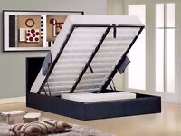 FAST DELIVERY *** LEATHER STORAGE BED AVAILABLE IN 3FT SINGLE, 4FT6 DOUBLE & 5FT KING SIZE BRAND NEW