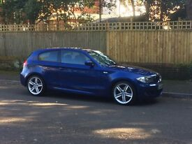 BMW 1 Series M Sport 3dr. Beautiful metallic blue. Full leather. Recently serviced. New rear tyres.