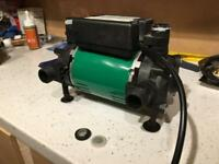 Salamander shower water pump