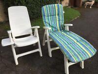 Garden relaxer and reclining chair
