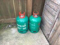 Two 13 Kilo Patio Empty Gas Bottles
