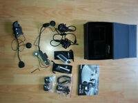 Motorcycle bluetooth communication system for motorcycle helmets