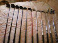 ram golf clubs plus asbri golf bag and accessories