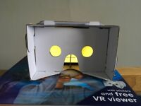 Virtual Reality Cardboard Headset + book