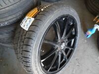 BRAND NEW WOLFRACE ULTRALIGHT TRACKDAY RENAULT ALLOYS BRAND NEW 235 40 18 TYRES NEVER TOUCHD ROAD