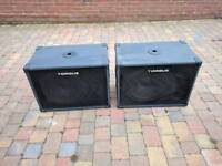 PA Bass speakers sub bass cabs