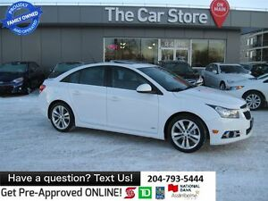 2012 Chevrolet Cruze LT Turbo - SUNROOF, USB, 1 OWNER