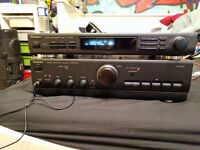Technics stereo tuner and amplifier