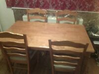 Wooden Table and four Chairs FREE Uxbridge area