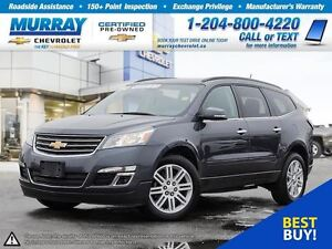 2014 Chevrolet Traverse 1LT *Heated Seats, OnStar, Climate Contr