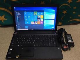 Toshiba laptop, 500 gb HDD, AMD E1 processor, 4 gb RAM