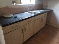 kitchen cabinets and sing taps