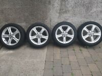 Genuine 4x Audi Alloy Wheels with Tyres 5 Stud R17