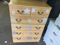 PINE EFFECT CHEST OF DRAWERS,CAN DELIVER