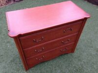 Chest of 3 drawers - ideal for upcycle or as is.