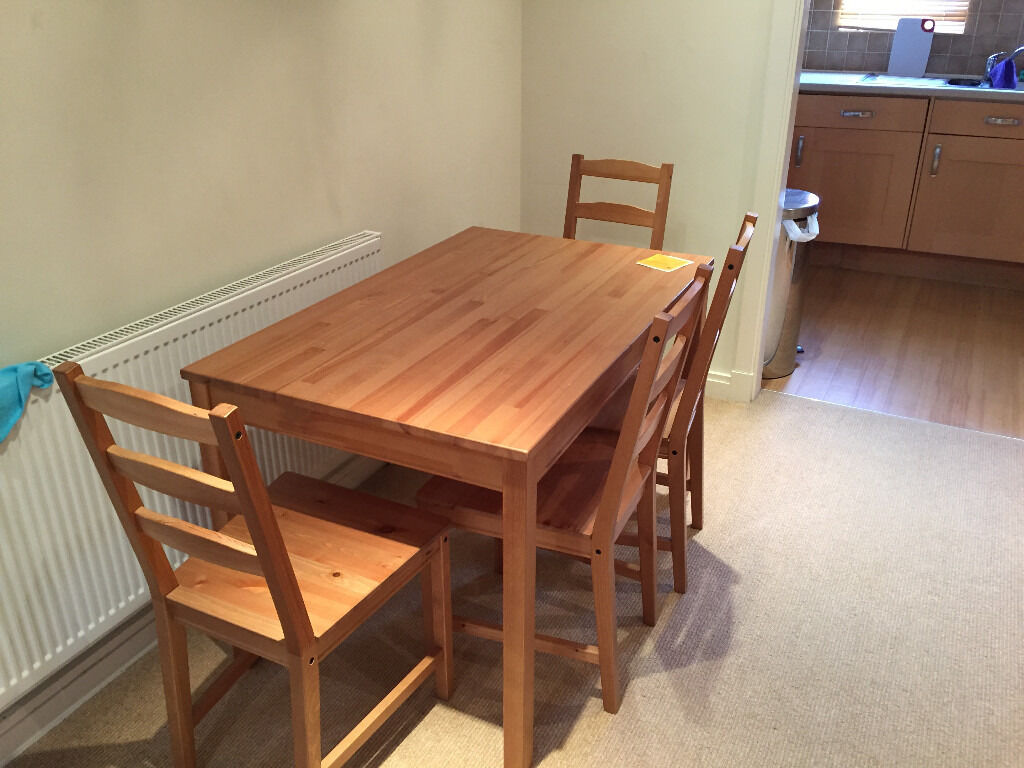 Ikea jokkmokk table and 4 chairs in guildford surrey for Table 4 personnes ikea