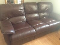 3 & 2 seater reclining settees for sale