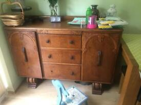 Solid wood antique chest of draws ..
