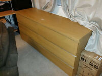 IKEA MALM chest of drawers, two units, 6 and 5 drawers, oak veneer colour, CAN DELIVER