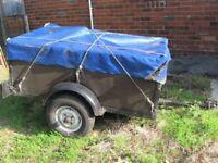 5ft x 3ft wooden trailer