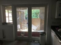 Painted wooden french doors
