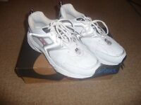 Men's white Reebok trainers size 10