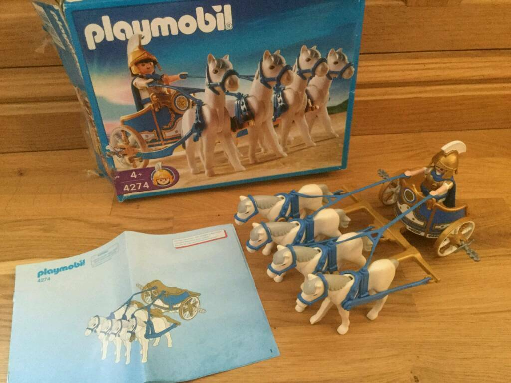 Playmobil 4274 Roman Chariot 100 Complete In Wimbledon
