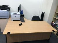 Office clearance (2 desks and 3 chairs)