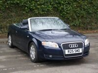 2008 Audi A4 Cabriolet 2.0 TDI Diesel 2door blue convertible long Mot Manual hpi clear spot on car