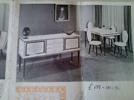 Classic mid century Italian dining suite by Umberto Mascagni