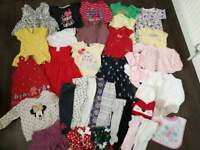 Massive girls 37pc clothes bundle baby 9-12 12-18 months Disney next mothercare Minnie mouse