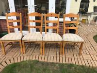 4x wood chairs (ideal project)