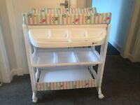 Changing table with storage