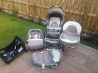 SELLING : Graco Tour Deluxe Baby Pram/Stroller Travel Bundle