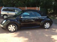 BLACK CONVERTIBLE VW BEETLE 1.6 2003