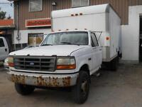1995 Ford F-450 Super Duty Cube Van- AS IS