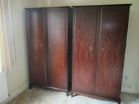 Pair of matching Stag Minstrel Wardrobes