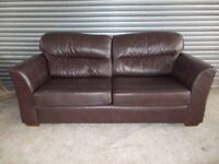 Marks & Spencer Brown Leather 3-2-1 Suite (Sofa)
