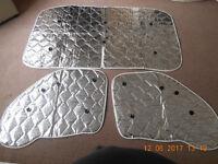 Motorhome windscreen Internal thermal covers
